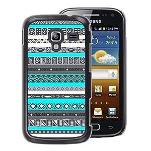 A-type Arte & diseño plástico duro Fundas Cover Cubre Hard Case Cover para Samsung Galaxy Ace 2 (Pattern Black White Native Indian)
