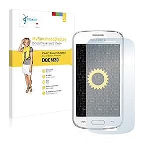 Vikuiti DQCM30 MySunshadeDisplay - Protector de pantalla para Samsung S7390 Galaxy Trend Lite (no deja residuos, instalacin sencilla, con efecto espejo mate)
