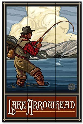 Lake. Arrowhead Wood Art Print by Paul A. Lanquist (24