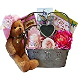"""Art of Appreciation Gift Baskets A Special Gift For Mothers Day Gift Basket with Singing Teddy Bear """"You Are My Hero"""""""