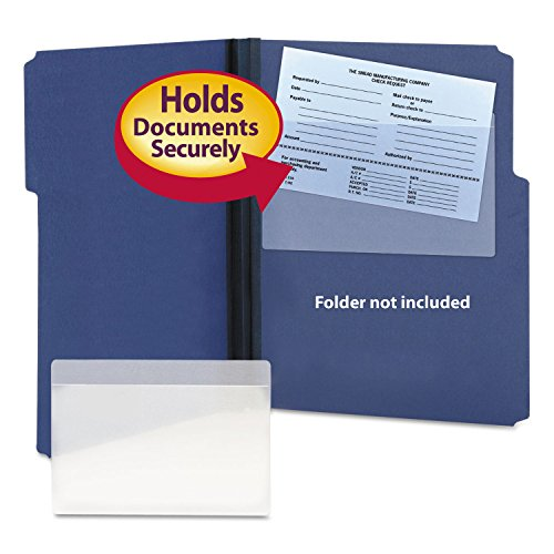 Smead 68185 Self-Adhesive Poly Pockets Top Load 9 x 5-9/16 Clear 100/Box