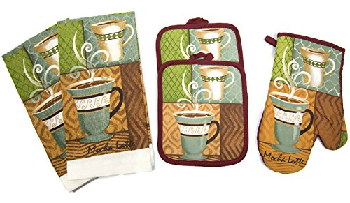 kitchen towel sets coffee - 8