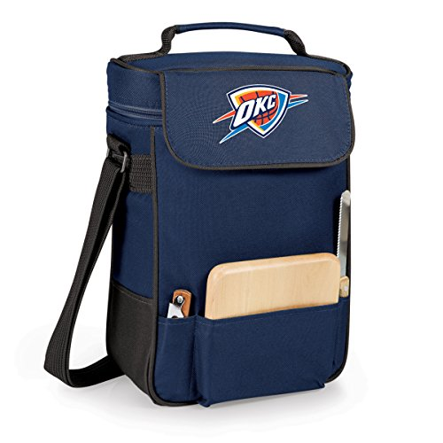 NBA Oklahoma City Thunder Duet Insulated 2-Bottle Wine and Cheese Tote