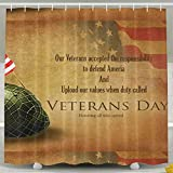 HACVREQ Decorative Shower Curtain-Remembrance Honoring Our Veterans Everyday Bathroom Decoration Decor Fabric Shower Curtains,60 X 72 Inch