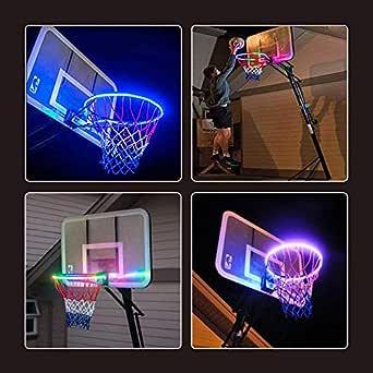 Canasta de baloncesto con luz LED, luz de acción de ...