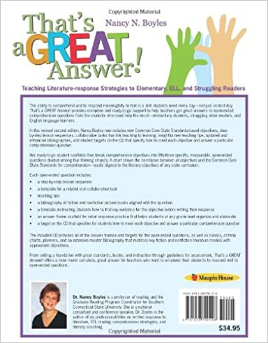 Amazon.com: That's a GREAT Answer! Second Edition: Teaching ...