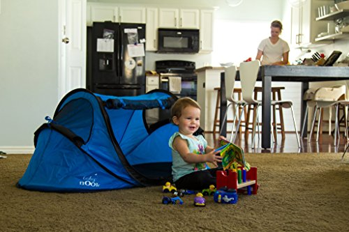 Baby Nook Travel Bed And Beach Tent Blue Provides Shade
