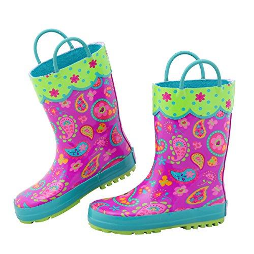 Stephen Joseph Girls' Rainboots, Paisley, 7 ()
