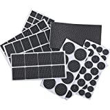 FOOMEXT 129 Pieces Non Slip Furniture Pads-Heavy Duty Adhesive Rubber Furniture Pads -Best Chair Leg Covers Assorted Sizes Protect Your Hardwood & Laminate Flooring