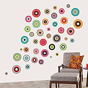 Decals Design 'Polka Motifs' Wall Sticker (PVC Vinyl, 60 cm x 90 cm, Black)