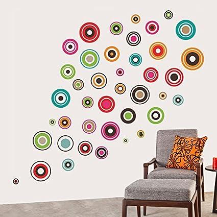 Decals Design Polka Motifs Wall Sticker (PVC Vinyl, 60 cm x 90 cm, Black)