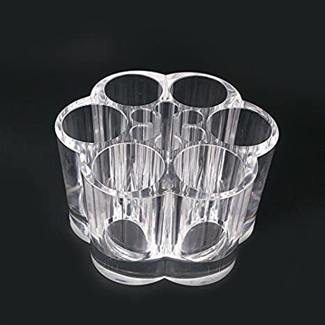 GreenSun (TM) flor morado caja de acrílico transparente organizador de maquillaje soporte de accesorios para cajones de maquillaje de labios casos: ...