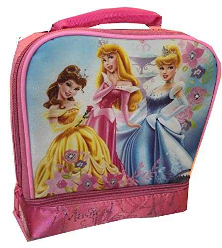 Disney Princess Lunchbox Insulated Dual Compartment Lunch Bag Tote'