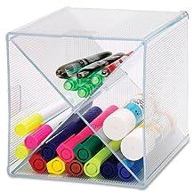 Sparco X-Cube Storage Organizer -6-Inch Heightx6-Inch Width x 6-Inch Depth -Clear