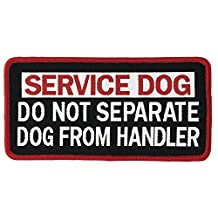 "DO NOT SEPARATE DOG FROM HANDLER Service Dog Woven Patch (Small SEW-ON (1.5""x2.5""))"