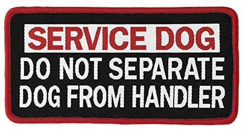 DO NOT SEPARATE DOG FROM HANDLER Service Dog Woven Patch (Small VELCRO (1.5