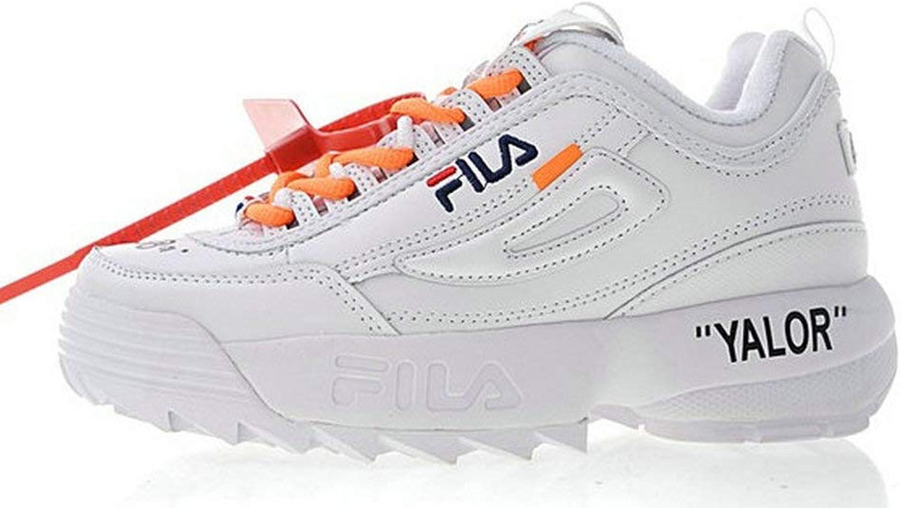 Off White X Fila Disruptor LI 2 White Orange Zapatillas de Running ...