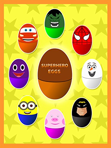 [Learn Colors With Superhero Surprise Eggs] (Superheroes For Kids)