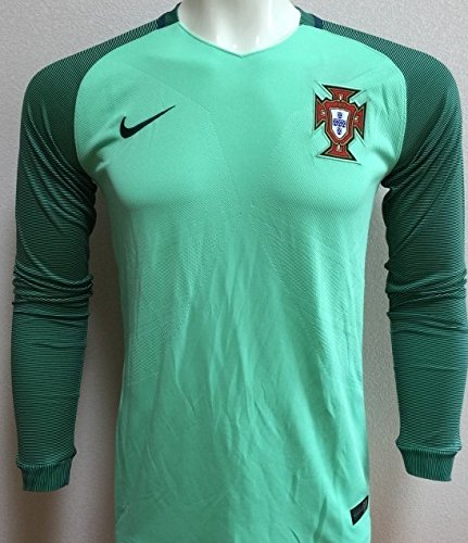 bbae2a6a6 2018 Portugal Away Green Full Long Sleeves Football Jersey Portugal  Football Jersey for FIFA