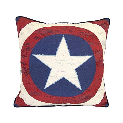 Marvel Captain America Star Shield Decorative Throw Pillow 16