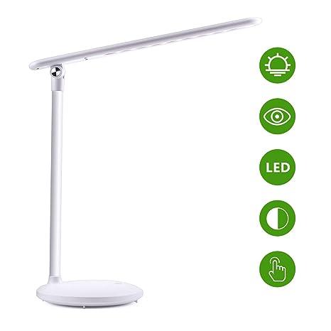Luz de escritorio LED USB, lámpara de mesa 180 ° Reversible + 3 ...