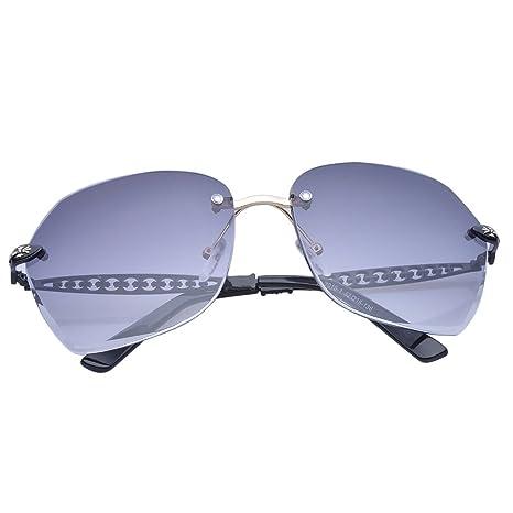 Meisijia Donne Uomini Retro oversize senza montatura occhiali a specchio Lenti Eyewear ANbPZZF