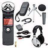 Zoom H1 Digital Recorder Bundle with Zoom APH-1 Accessory Pack, Stereo Mini Cable, Stereo Mini to RCA, and Headphones