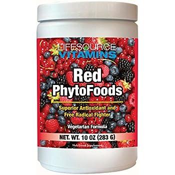 LifeSource Vitamins Red Phyto Foods 10 oz Powder