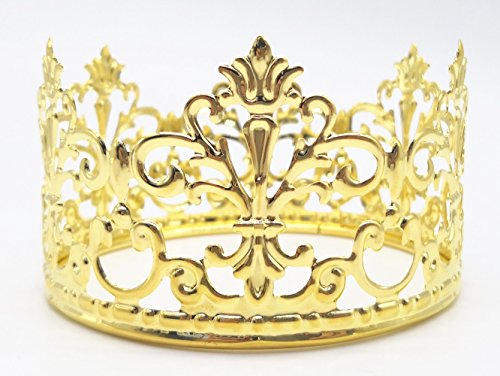 HYOUNINGF Gold Crown Cake Topper Elegant Cake Decoration For King, Queen, Prince And Princess Themed Parties, Royal Birthday Cake (Princess Themed Birthday Party)