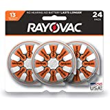 RAYOVAC Size 13 Hearing Aid Batteries, 24-Pack