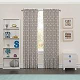 Eclipse Kids 15939042X063GRE Peanut Pals 42-Inch by 63-Inch Single Window Curtain Panel, Grey