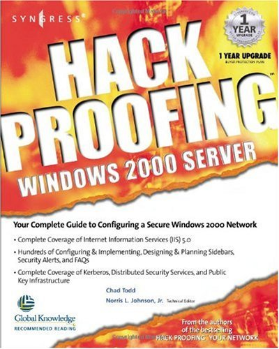 [PDF] Hack Proofing Windows 2000 Server Free Download | Publisher : Syngress | Category : Computers & Internet | ISBN 10 : 1931836493 | ISBN 13 : 9781931836494