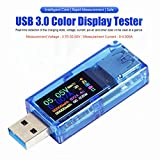MakerHawk USB 3.0 Tester Multimeter 3.7-30V 0-4A USB Voltage Tester USB Digital Current and Voltage Tester Meter Voltmeter Ammeter IPS Color Display Capacity Power Charger Detector AT34
