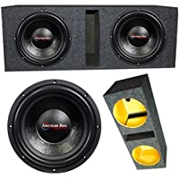 2 American Bass XFL1544 15 4 Ohm 4000W MAX Dual Enclosed Car Subwoofers & Box