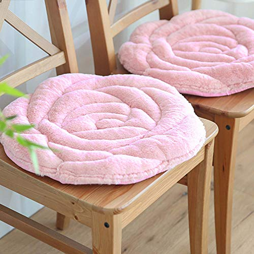 (IPENNY Soft Cozy Seat Cushion Plush Rose Seat Pad Seat Pillow Relieves Back Coccyx Sciatica and Tailbone Pain Relief Chair Cushions Chair Pads for Home Office Sofa Car Wheelchair)