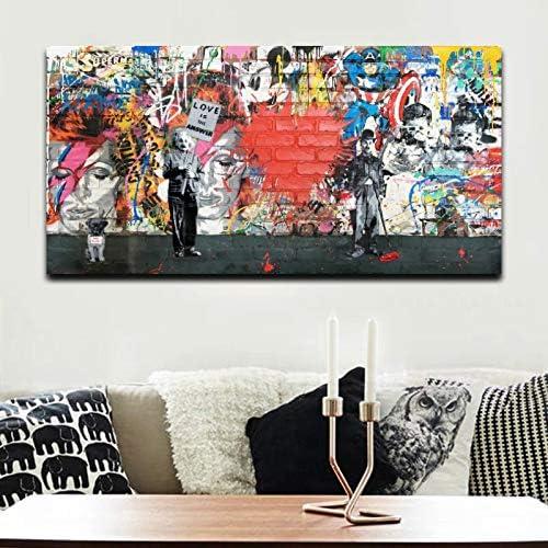 Murals XXL gaffiti Banksy images XXL Canvas Living Room i-c-0114-b-m