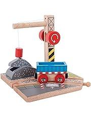 Bigjigs Rail Wooden Gravel Crane Magnet Magnetic Lift Train Accessories