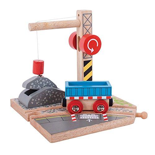 Bigjigs Rail Gravel Crane for Train - Crane Wooden Set