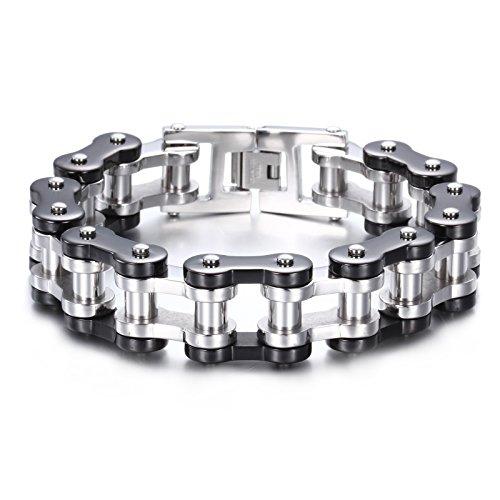 Ketten armband  YSM-Fahrrad-Ketten-Armband 235mm Edelstahl-Gliederarmband 20mm ...