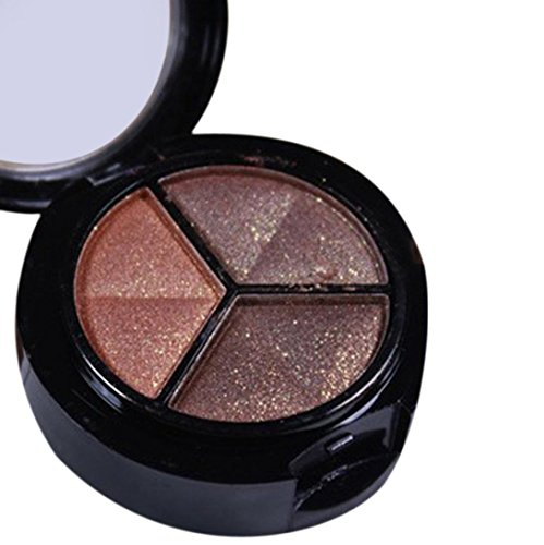 Sankuwen Smoky Cosmetic Set 3 colors Professional Natural Matte Makeup Eye Shadow (D)