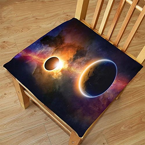 Nalahome Set of 2 Waterproof Cozy Seat Protector Cushion Outer Space Decor Planet in Milky Way Dark Nebula Gas Cloud Celestial Solar Eclipse Galaxy Theme Multi Printing Size - You Eclipse For Solar Sunglasses Use Can