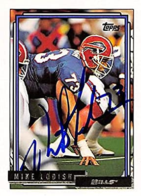 97dd7d5877c Mike Lodish autographed football card (Buffalo Bills) 1992 Topps #666