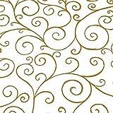5m x 80cm Gold Scroll Swirl Cellophane Film Wrap. Florist Quality Cello Bouqu...