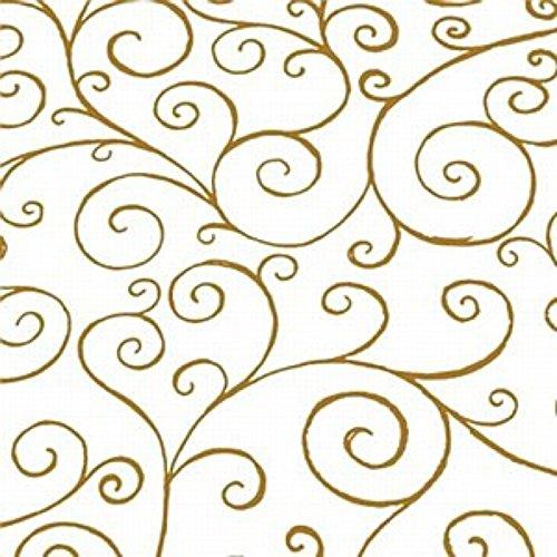 5m x 80cm Gold Scroll Swirl Cellophane Film Wrap. Florist Quality Cello Bouqu... by Scroll Cellophane Wrap