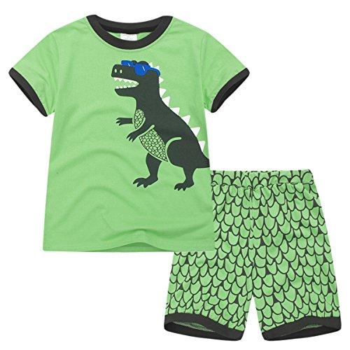 y Dino 2 Pcs Pajamas Set T Shirt + Shorts(6-7Years) ()
