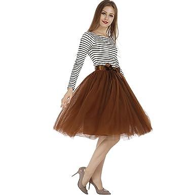 714980593 Upgrow Tulle Skirt, Women's Tutu Skirt Midi Tulle Skirts 7 Layers Petticoat  Crinoline Underskirt Ballet Skirt Bubble Ball Gown Half Slip Underskirt  with ...