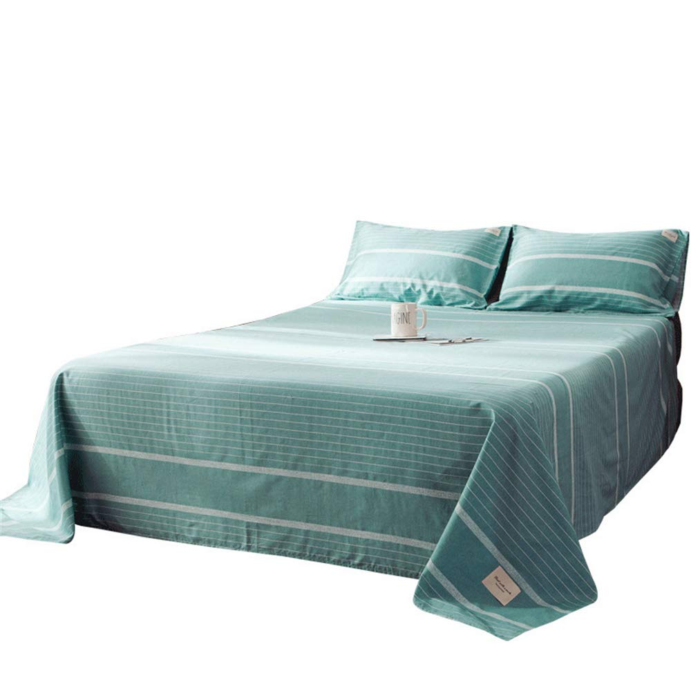 Bedding Cotton Sheets 100% Cotton Single Bed Cotton Urban Plaid Simple Design Fashion Atmosphere high-Density high-Density Moisture-Absorbing Breathable Soft and Comfortable Cloth 180230cm by iangbaoyo