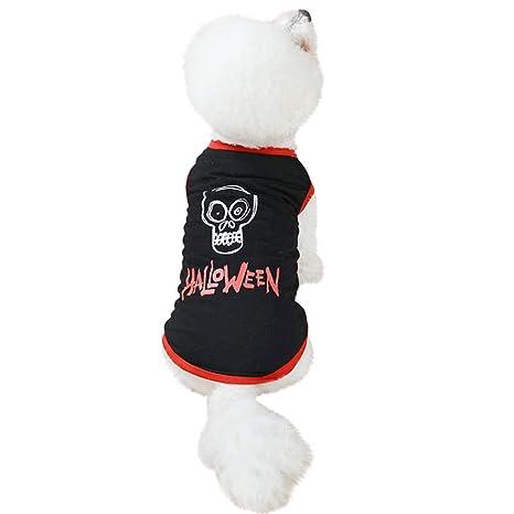 Zolimx Ropa de Mascota de Halloween Camiseta de para Pequeño ...