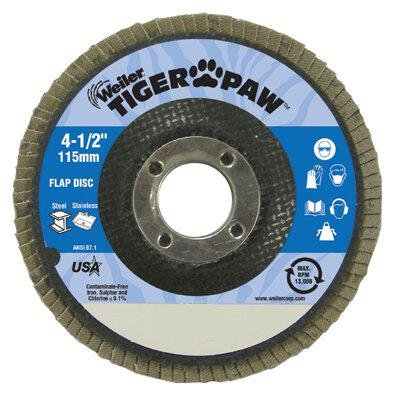 Flap Disc, Type 27, 7in. dia., 60 Grit by Weiler (Image #1)