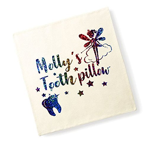 Personalised Names Tooth Pillow Children's Cushion Cover Tooth Fairy Pillow Cute Kids Decor